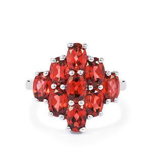 5ct Rajasthan Garnet Sterling Silver Ring