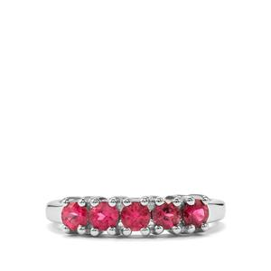 Cruzeiro Rubellite Ring in Sterling Silver 0.68cts