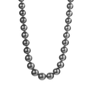 Tahitian Cultured Pearl Graduated Necklace  in Sterling Silver.