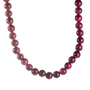321.80ct Purple Tiger's Eye Sterling Silver Necklace