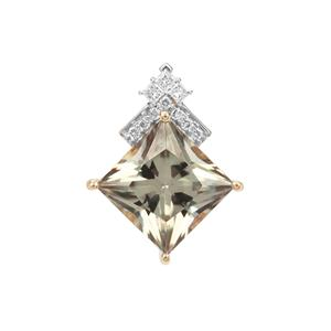 Csarite® Pendant with Diamond in 18K Gold 4.16cts