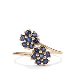 Nigerian Blue Sapphire 9K Gold Ring ATGW 0.93cts