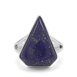 Sar-i-Sang Lapis Lazuli Ring in Sterling Silver 12cts
