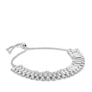 """10"""" Sterling Silver Altro Slider Bracelet 11.96g"""