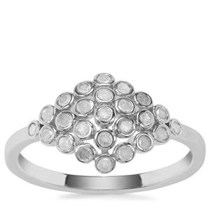 Diamond Ring in Sterling Silver 0.34ct