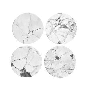 Set of 4 White Howlite Coasters ATGW 1250cts