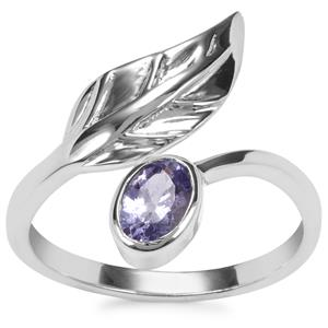 Tanzanite Ring in Sterling Silver 0.44ct