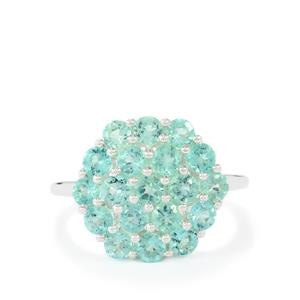 2.35ct Madagascan Blue Apatite Sterling Silver Ring
