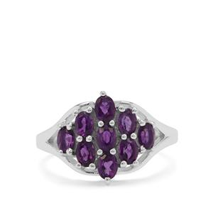 Zambian Amethyst Ring in Sterling Silver 1.40cts