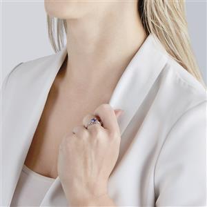 Tanzanite Ring  in 10k White Gold 0.88ct