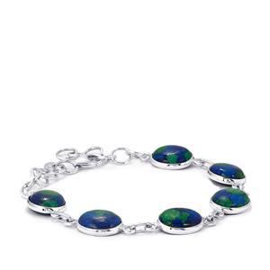 Azure Malachite Bracelet in Sterling Silver 23cts