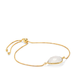 Rainbow Moonstone Slider Bracelet in Gold Plated Sterling Silver 8.75cts
