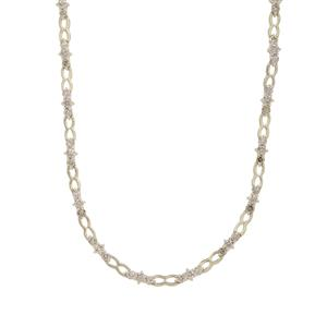 Champagne Argyle Diamond Necklace in 9K Gold 2cts