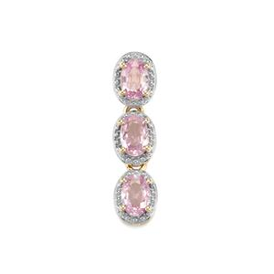 1.53ct Sakaraha Pink Sapphire 9K Gold Pendant