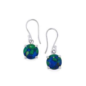 Azure Malachite Earrings in Sterling Silver 7.72cts