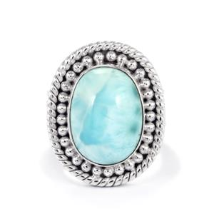 10ct Larimar Sterling Silver Ring