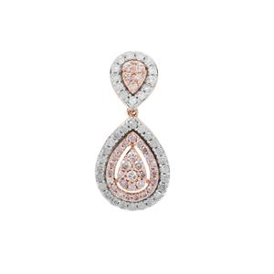 Natural Pink Diamond Pendant with White Diamond in 9K Rose Gold 0.80ct