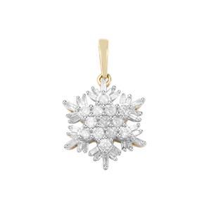 The Snowflake 1/2ct Diamond 9K Gold Pendant