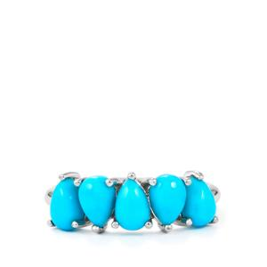 Sleeping Beauty Turquoise Ring in Sterling Silver 1.93cts