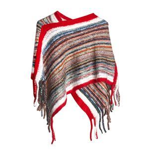 Destello Striped Poncho