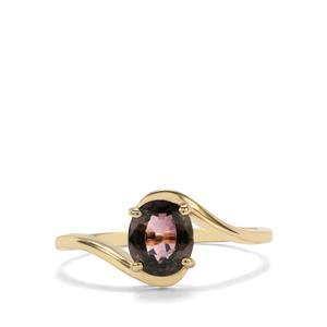 1.38ct Burmese Multi-Colour Spinel 10K Gold Ring