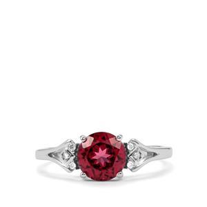 Mahenge Garnet & Diamond 10K White Gold Ring ATGW 1.66cts