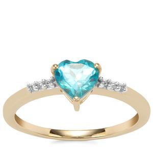 Batalha Topaz Ring with White Zircon in 10K Gold 0.96ct
