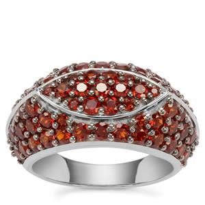 Anthill Garnet Ring in Sterling Silver 3.51cts