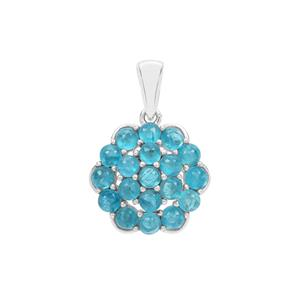 Neon Apatite Pendant in Sterling Silver 3.06cts