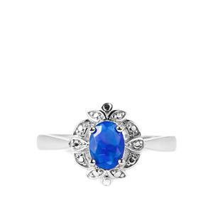 0.50ct Ethiopian Paraiba Blue Opal Sterling Silver Ring