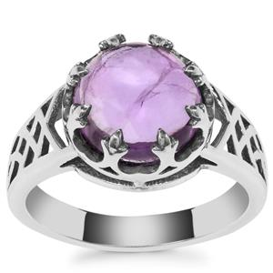 Kenyan Amethyst Ring in Sterling Silver 3.21cts