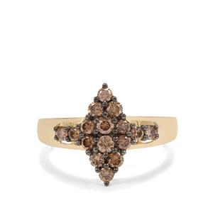 Argyle Diamond Ring in 9K Gold 0.80ct
