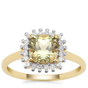 Csarite® Ring with Diamond in 9K Gold 1.85cts