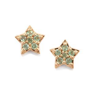 Alexandrite Earrings in 10K Gold 0.33cts