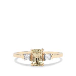 Csarite® & Ratanakiri Zircon 9K Gold Ring ATGW 1.15cts