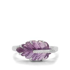 Bahia Amethyst Ring with White Zircon in Sterling Silver 3.63cts