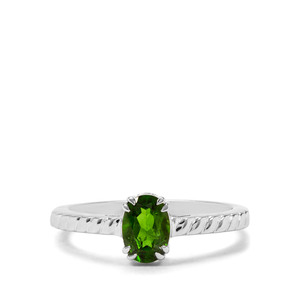 0.78ct Chrome Diopside Sterling Silver Ring