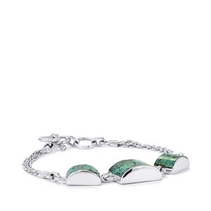 Tibetan Turquoise Bracelet in Sterling Silver 19cts