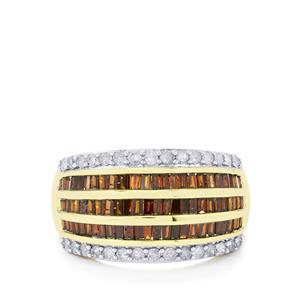 1.20ct Red & White Diamond 10K Gold Tomas Rae Ring