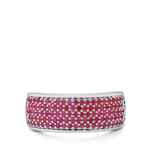 0.79ct Burmese Ruby Sterling Silver Ring