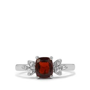 Burmese Multi-Colour Spinel Ring with White Zircon in Sterling Silver 1.28cts