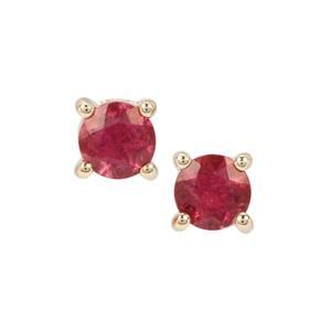 0.51ct Safira Tourmaline 9K Gold Earrings