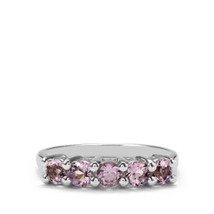0.74ct Rose De France Amethyst Sterling Silver Ring