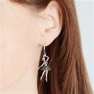 Black Spinel Earrings in Sterling Silver 0.77cts