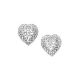 Diamond Earrings in Sterling Silver