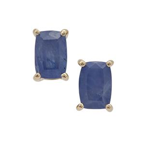 Burmese Blue Sapphire Earrings in 9K Gold 1.50cts