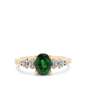 Tsavorite Garnet & Diamond 18K Gold Tomas Rae Ring MTGW 1.20cts