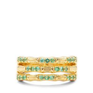 0.36ct Zambian Emerald Midas Ring
