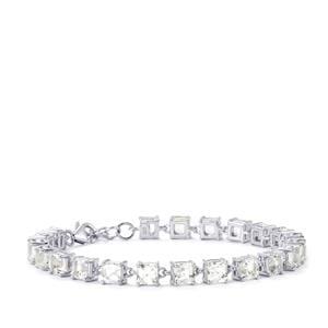 18.53ct White Topaz Sterling Silver Asscher Cut Bracelet