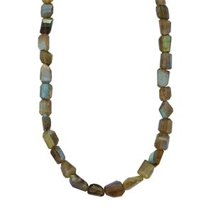 173ct Labradorite Sterling Silver Nugget Necklace